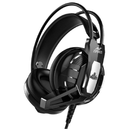 Ant Esports Over-Ear Active Noise Cancellation Wired Headset with Mic (High Quality 40mm Speakers, H520W, Black)_1