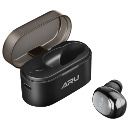 ARU In-Ear Truly Wireless Earbuds with Mic (Bluetooth 5.0, Sweat Proof, AEP-1122, Black)_1