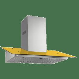 Glen 1000 m³/hr 90 cm Wall Mount Chimney (Copper Winding Motor , Cooker Hood 6077, Yellow)_1