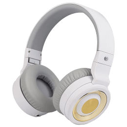 AT&T Over-Ear Noise Isolation Wireless Headphone with Mic (Bluetooth 3.0, Hands Free Calling, PBH20-WHT, White)_1