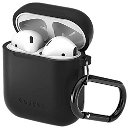 Spigen Silicone Fit TPU Full Cover Case For Apple AirPods (Flexible & Shock-Absorbent Layer, 066CS24808, Black)_1