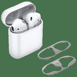 Spigen Metal Sticker Shine Shield For Apple AirPods 1/2 (Metal Layer, ASD00213, Metallic Silver)_1