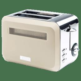 Sabichi Haden Boston 685 - 815 Watts 2 Slice Automatic Pop-up Toaster (Chrome Base, 189745, Cream)_1