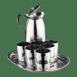 Vinod Harmony Stainless Steel Lemon Serving Set (8 Pieces, Silver)_1