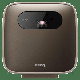 BenQ GS2 HD DLP Projector (500 Lumens, USB (Type-C) + Wifi + HDMI + USB-A, Eye-Protection Sensor, 9H.JL577.59F, Brown)_1