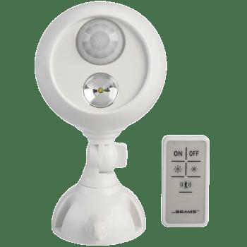 Mr. Beams Electric Powered 7 Watt Remote Control Motion Sensor Smart Light (MB370, White)_1