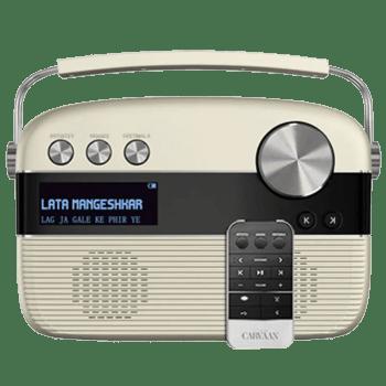 Saregama Carvaan Tamil Portable Audio Player With Remote (White)_1