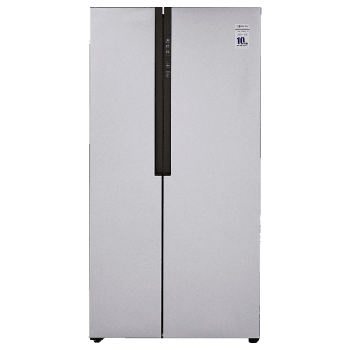 Haier 565 L Frost Free Side-by-Side Inverter Refrigerator (HRF-619SS, Shiny Steel)
