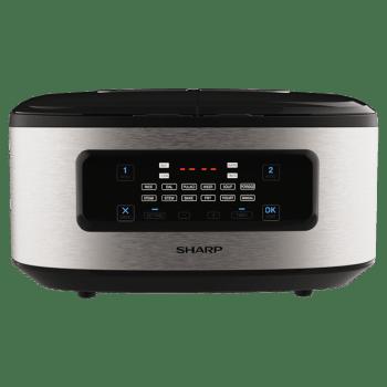 Sharp 900 Watt Dual Pot Twin Cooker (KN-TC50VI-SL, Silver/Black)_1