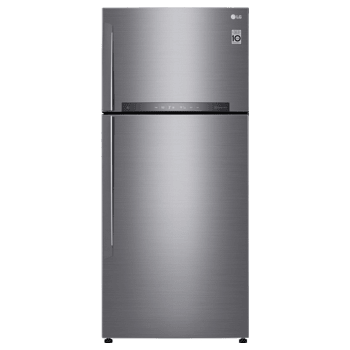 LG 516 L 3 Star Frost Free Double Door Inverter Refrigerator (GN-H602HLHU, Stainless Steel)_1