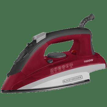 Black & Decker BXIR1601IN 1600 Watt Steam Iron (12937, Red)_1