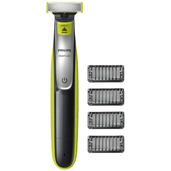 Philips OneBlade Face Cordless Wet & Dry Trimmer & Shaver (60 Min Run Time/4h Charge, QP2532/20, Lime Green/Charcoal Grey)_1