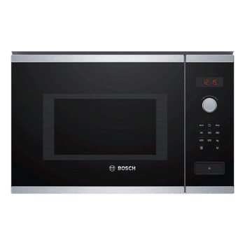 Bosch Serie 4 25 Litres Built-in Microwave Oven (Rotary Control Knob, BFL553MS0I, Black)_1