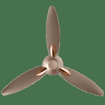 Usha Bloom Daffodil 125cm Sweep 3 Blade Ceiling Fan (Inverter Compatible, 11105BL62GBW, Sparkle Golden & Brown)_1
