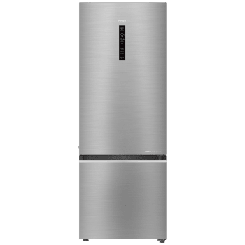 Haier 346 L Frost Free Double Door Bottom Mount 3 Star Refrigerator(BrushlineSilver, HRB-3664BS-E)