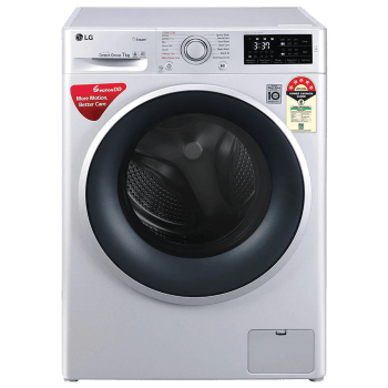 LG 7 kg 5 Star Fully Automatic Front Load Washing Machine (Smart Diagnosis, FHT1207ZNL.ALSQEIL, Silver) 1