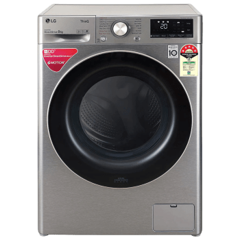 LG 8 kg 5 Star Fully Automatic Front Load Washing Machine (Inverter AI Direct Drive Motor, FHV1408ZWP.APSQEIL, Platinum Silver) 1