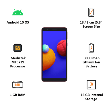 Samsung Galaxy M01 Core (16GB ROM, 1GB RAM, Red) 4