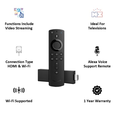 Amazon Fire TV Stick 4K with All New Alexa Voice Remote (B079QQZZJK, Black) 5