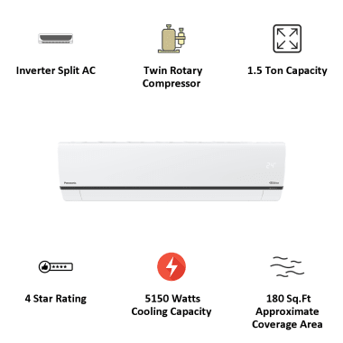 Panasonic WU 1.5 Ton 4 Star Inverter Split AC (Air Purification Filter, Wi-Fi, Copper Condenser, CS/CU-WU18XKYXF, White) 6