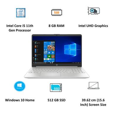 HP 15s-fr2006TU (34W78PA#ACJ) Core i3 11th Gen Windows 10 Home Thin and Light Laptop (8GB RAM, 512GB SSD, Intel UHD Graphics, MS Office, 39.62cm,... 5