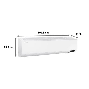 Samsung 1.5 Ton 5 Star Inverter Split AC (Convertible AC, Copper Condenser, AR18AY5ZBWK, White) 4