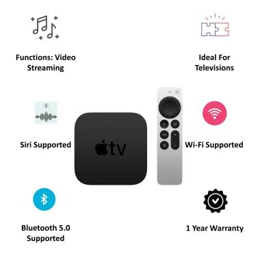 Apple TV HD 32GB Media Streaming Box (Siri Remote, MHY93HN/A, Black) 6
