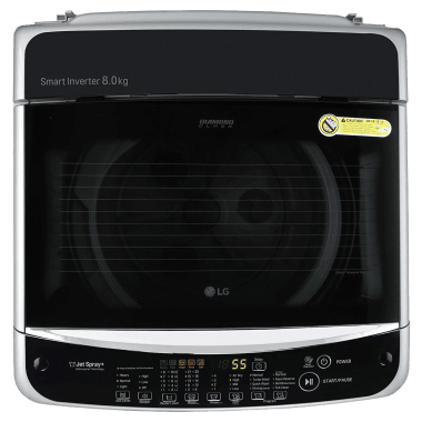 LG 8 kg 5 Star Fully Automatic Top Load Washing Machine (Smart Diagnosis, T80SJSF1Z.ASFQEIL, Middle Free Silver) 7