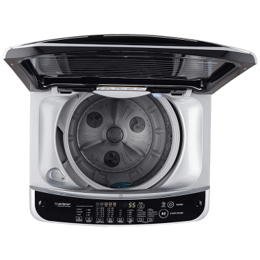 LG 8 kg 5 Star Fully Automatic Top Load Washing Machine (Smart Diagnosis, T80SJSF1Z.ASFQEIL, Middle Free Silver) 5