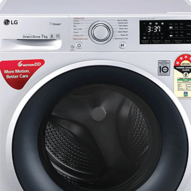 LG 7 kg 5 Star Fully Automatic Front Load Washing Machine (Smart Diagnosis, FHT1207ZNL.ALSQEIL, Silver) 7