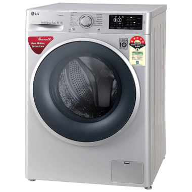 LG 7 kg 5 Star Fully Automatic Front Load Washing Machine (Smart Diagnosis, FHT1207ZNL.ALSQEIL, Silver) 4