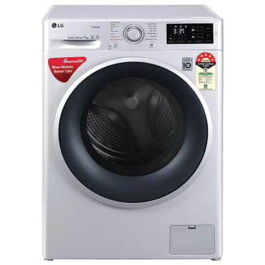 LG 7 kg 5 Star Fully Automatic Front Load Washing Machine (Smart Diagnosis, FHT1207ZNL.ALSQEIL, Silver) 2