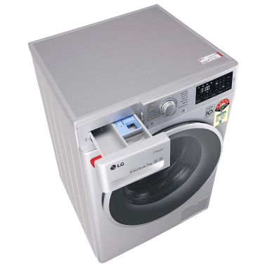 LG 7 kg 5 Star Fully Automatic Front Load Washing Machine (Smart Diagnosis, FHT1207ZNL.ALSQEIL, Silver) 10