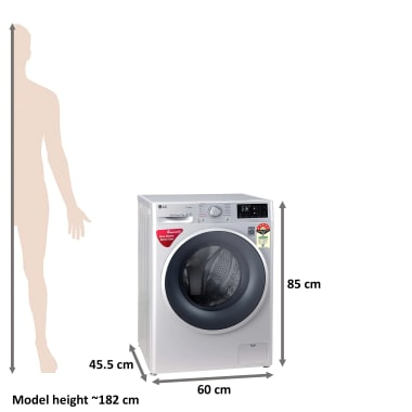 LG 7 kg 5 Star Fully Automatic Front Load Washing Machine (Smart Diagnosis, FHT1207ZNL.ALSQEIL, Silver) 3