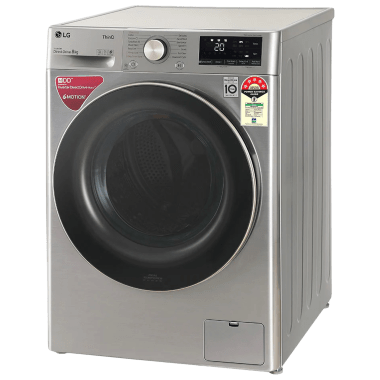 LG 8 kg 5 Star Fully Automatic Front Load Washing Machine (Inverter AI Direct Drive Motor, FHV1408ZWP.APSQEIL, Platinum Silver) 4