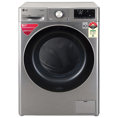 LG 8 kg 5 Star Fully Automatic Front Load Washing Machine (Inverter AI Direct Drive Motor, FHV1408ZWP.APSQEIL, Platinum Silver) 2