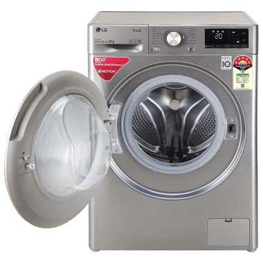 LG 8 kg 5 Star Fully Automatic Front Load Washing Machine (Inverter AI Direct Drive Motor, FHV1408ZWP.APSQEIL, Platinum Silver) 8