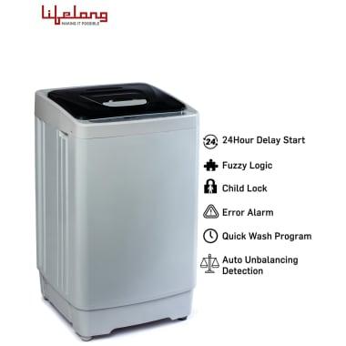 Lifelong 6.2 kg Fully Automatic Top Load Washing Machine (LLATWM08, Black) 6
