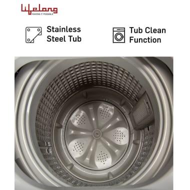 Lifelong 6.2 kg Fully Automatic Top Load Washing Machine (LLATWM08, Black) 4