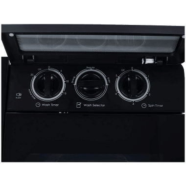 Godrej Edge Ultima 8 kg 5 Star Semi-Automatic Top Load Washing Machine (Tri-Roto Scrub Pulsator, WSEDGE ULT 80 5.0 DB2M CSBK, Crystal Black) 5