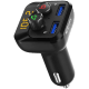 Portronics Auto 10 Bluetooth & USB Car Charging Adapter (POR 320, Black)_1