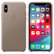Apple iPhone XS PU Leather Back Case Cover (MRWL2ZM/A, Taupe)_1