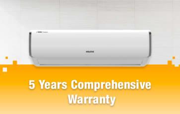 5 Years Comprehensive Warranty