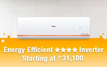 Energy Efficient 4 star Inverter AC's