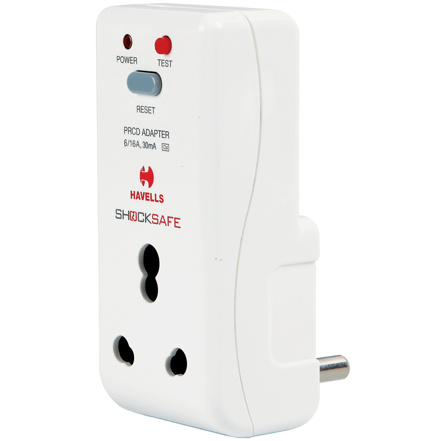 Havells 30 mA PRCD Shocksafe Adaptor (AHLS301600, White)_1