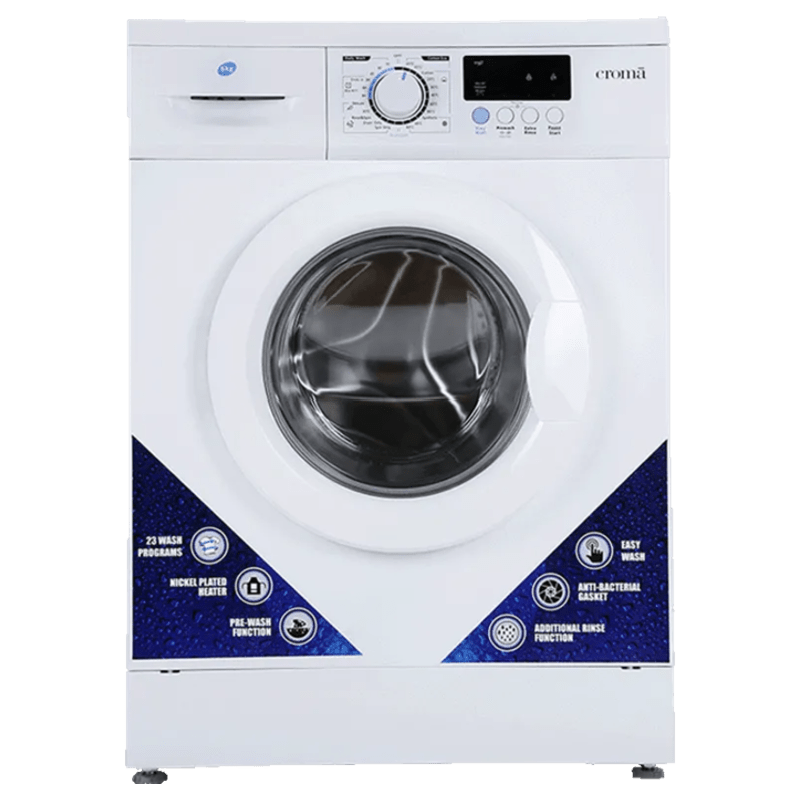 Croma 6 kg Fully Automatic Front Loading Washing Machine (CRAW0151, White)