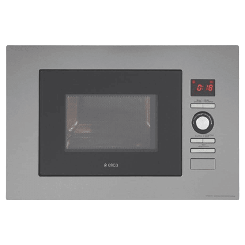 Elica 22 Litres Built-in Microwave Oven (LED Display, EPBI MW 220, Silver)