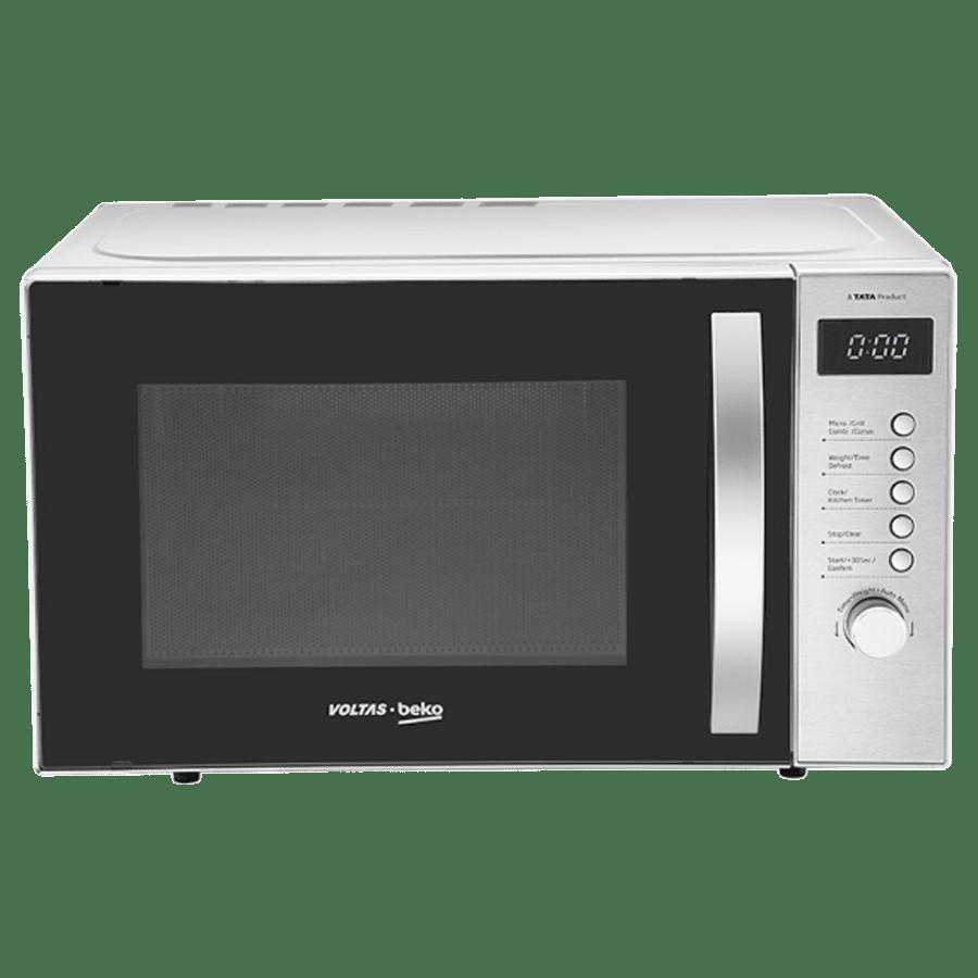 Voltas Beko 23 Litre Convection Microwave Oven (MC23BSD, Inox)_1