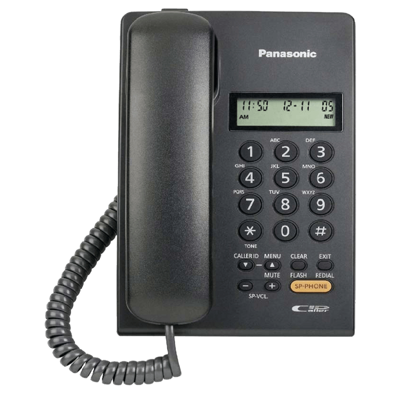 Panasonic Corded Phone (KX-TSC62, Black)