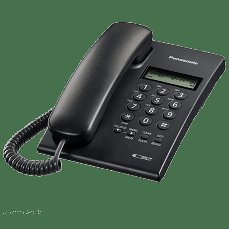 Panasonic Corded Phone (KX-TSC60SX, Black)
